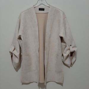 Open Cardigan Micro-suede Size Small